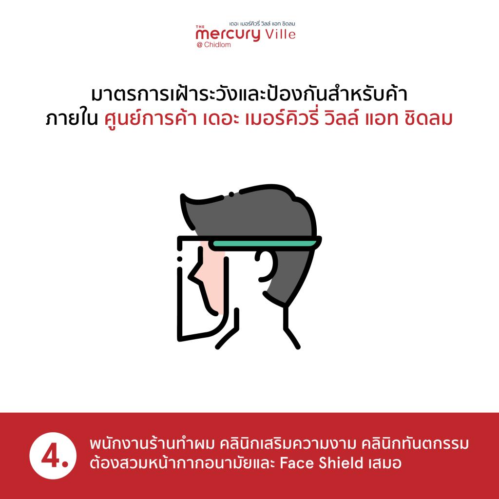 มาตรการเฝ้าระวังและป้องกันสำหรับร้านค้าภายในศูนย์การค้าฯ